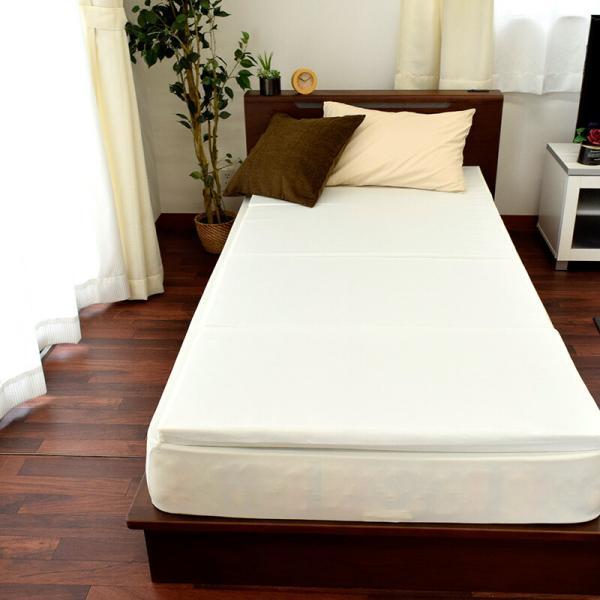 マットレス シングル 日本製 折りたたみ 四つ折り 固綿 硬質マットレス 厚み4cm|futon|08