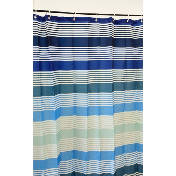 シャワーカーテン 幅142cm×丈180cm 洗える 撥水 バスカーテン マリブ リングフック付き 浴室用カーテン ゆうメール便|futon|08