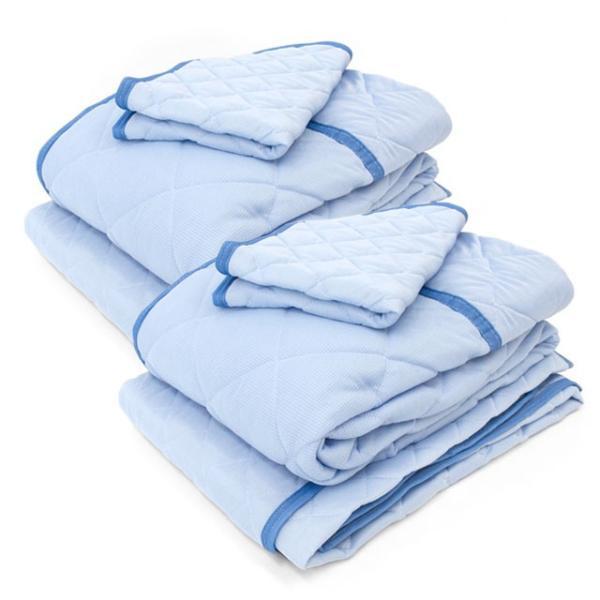 ひんやり寝具3点セット×2組セット シングル 接触冷感 肌掛け布団 冷感敷きパッド 枕パッド 涼感マット|futon|15