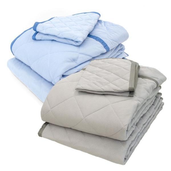 ひんやり寝具3点セット×2組セット シングル 接触冷感 肌掛け布団 冷感敷きパッド 枕パッド 涼感マット|futon|16