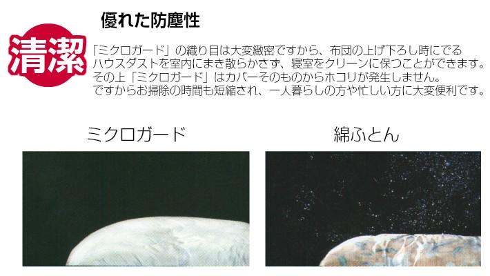 西川 ミクロガード 掛け布団カバー テイジン