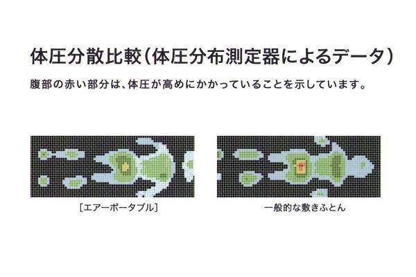 西川エアー(AIR) ポータブル モバイルマット コンディショニング オーバーレイ