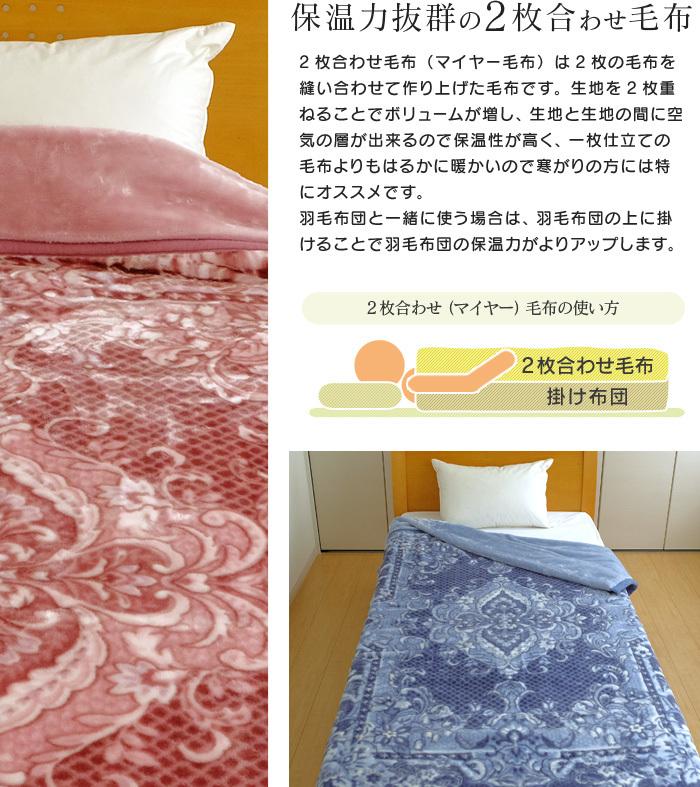 京都西川の毛布