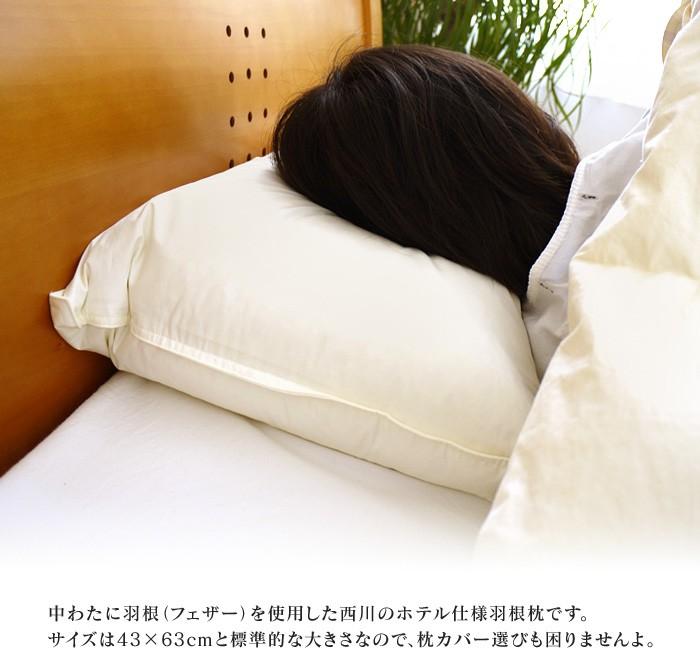 西川の羽根枕-02
