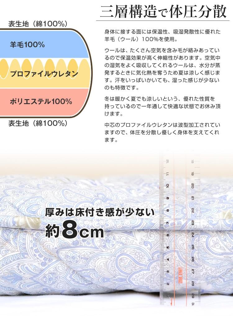 西川リビング軽量敷布団-03