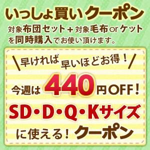 いっしょ買いクーポン!セミダブル以上サイズ布団セット+毛布orタオルケット【今週は440円OFF】
