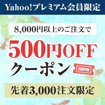 Yahoo!プレミアム会員限定 8,000円以上のご注文で500円OFFクーポン 先着3,000注文限定