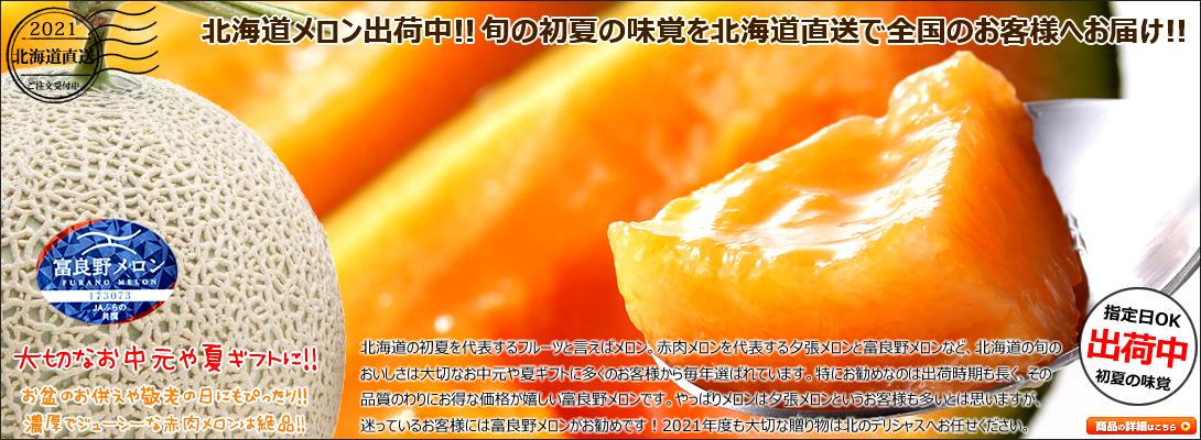 初夏の味覚 北海道産 メロン 赤肉メロン