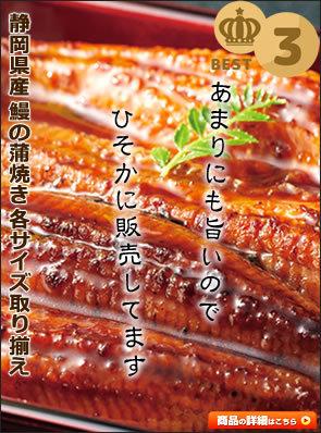 静岡県産 鰻の蒲焼き