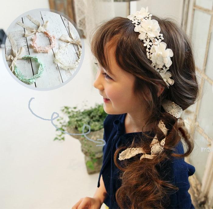 コードレースカチューシャ 女の子 髪飾り