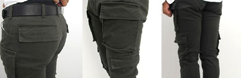 STUDIO ORIBE(スタジオオリベ) 秋、冬を主体にしたしっとりした素材感EP05-03 細身でスタイリッシュに穿ける 8ポケットカーゴパンツ 【smtb-TK】10P27aug10  カーキ
