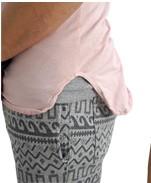 GRAB IN HOLLYWOOD(グラブインハリウッド) 深いUネックがレイヤードに最適 ラグランタイプ5部袖カットソー ライトピンク 裾