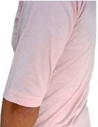 GRAB IN HOLLYWOOD(グラブインハリウッド) 深いUネックがレイヤードに最適 ラグランタイプ5部袖カットソー ライトピンク 袖