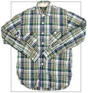 F.O.B(エフオービー) F3253 オリジナルチェックワークシャツ 長綿を使用した柔らかい極上の質感(グリーン)