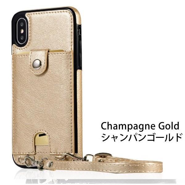スマホケース ショルダー iPhone 11 11pro 11proMAX XR 8 7 アイフォン 肩掛け ネックストラップ 首掛け カード収納 レディース  メンズ ネックホルダー|galleries|13