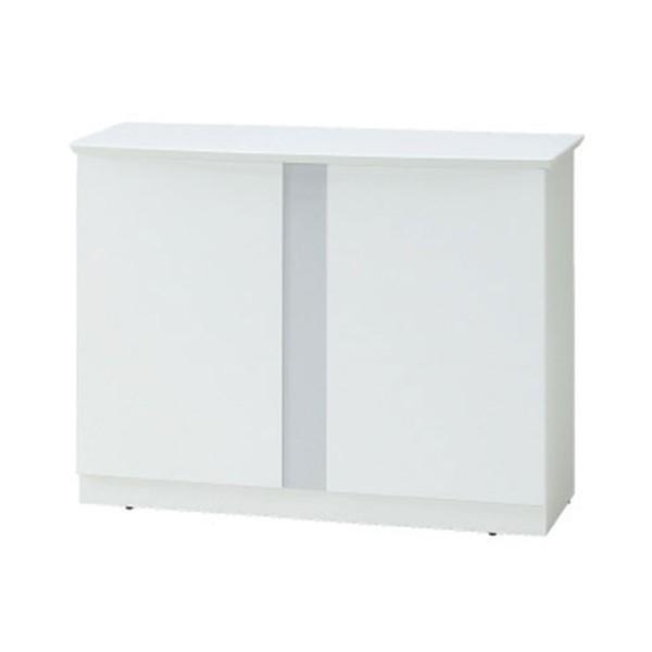 オフィス家具 ハイカウンター1200 ホワイトのおしゃれな受付カウンター デザイン 事務所用受付カウンター|garage-murabi|05