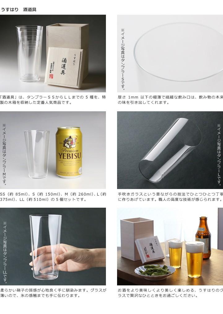 うすはり酒道具詳細