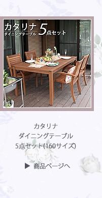 カタリナダイニングテーブル5点セット(160サイズ)