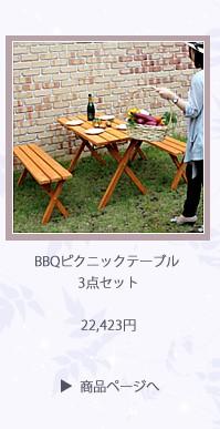 BBQピクニックテーブル 3点セット