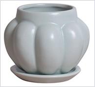 信楽焼『ピタンガ』植木鉢・受皿セット・穴あり