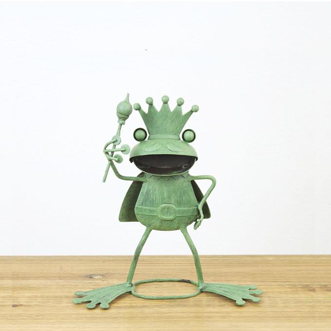 ブリキ製カエルオーナメント キング