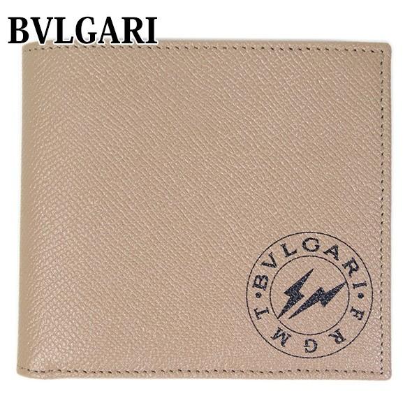 ブルガリ BVLGARI FRGMT 財布 ウォレット 二つ折り ブラックロゴプリント 稲妻 FRAGMENT by Hiroshi Fujiwara 288571