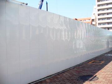 仮囲い、フラットパネル、鋼板、白