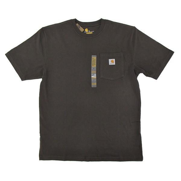 カーハート Carhartt K87 ワークウェア ポケット付きTシャツ 半袖 ミッドウェイト(メール便可) gb-int 16