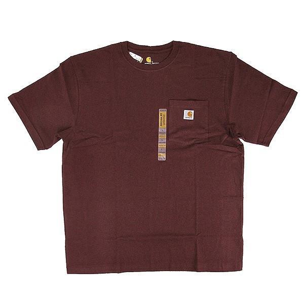 カーハート Carhartt K87 ワークウェア ポケット付きTシャツ 半袖 ミッドウェイト(メール便可) gb-int 14