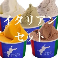 イタリアンジェラートの定番、ピスタチオ、ヘーゼルナッツ(ノッチョーラ)などジェラート アイスクリーム セット