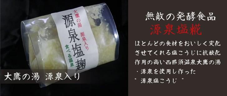 大鷹の湯   源泉入り 無敵の発酵食品 源泉塩糀