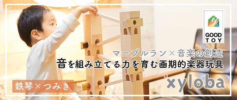 音楽を組み立てる画期的楽器玩具xyloba(サイロバ)
