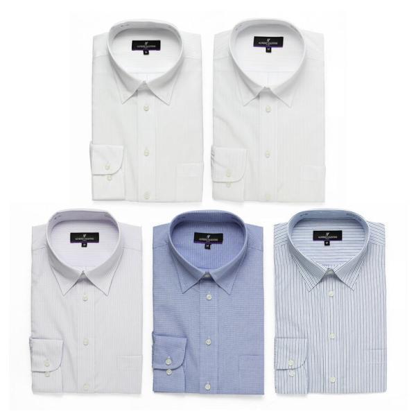 ワイシャツ Yシャツ 5枚セット レギュラー メンズ 長袖 ビジネス ストライプ 袖 長い|gerbera-2|12