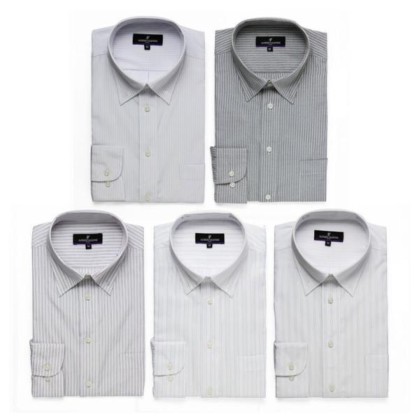 ワイシャツ Yシャツ 5枚セット レギュラー メンズ 長袖 ビジネス ストライプ 袖 長い|gerbera-2|15