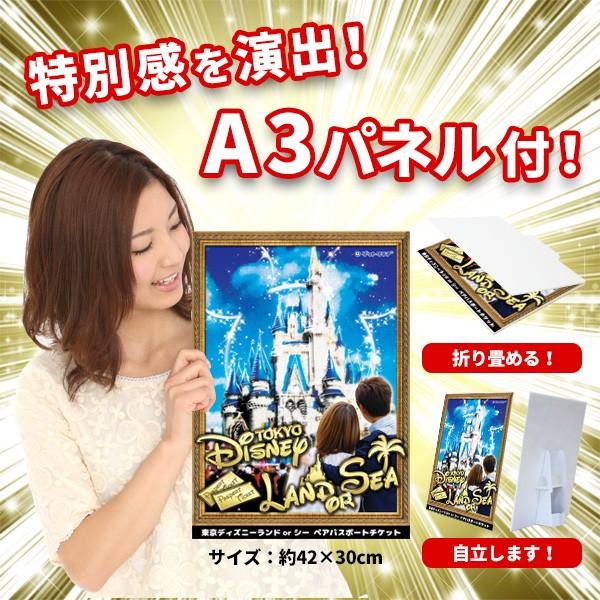 東京ディズニーランドorシー ペアパスポートチケット 特大A3パネル付き