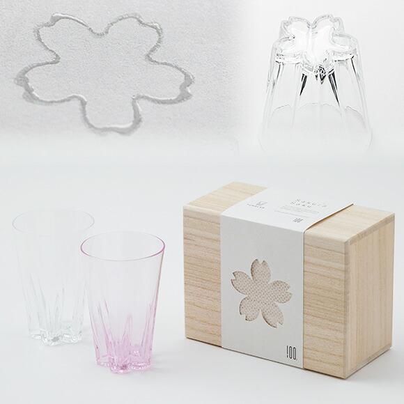 sakurasaku glass / サクラサクグラス ペア 紅白セット