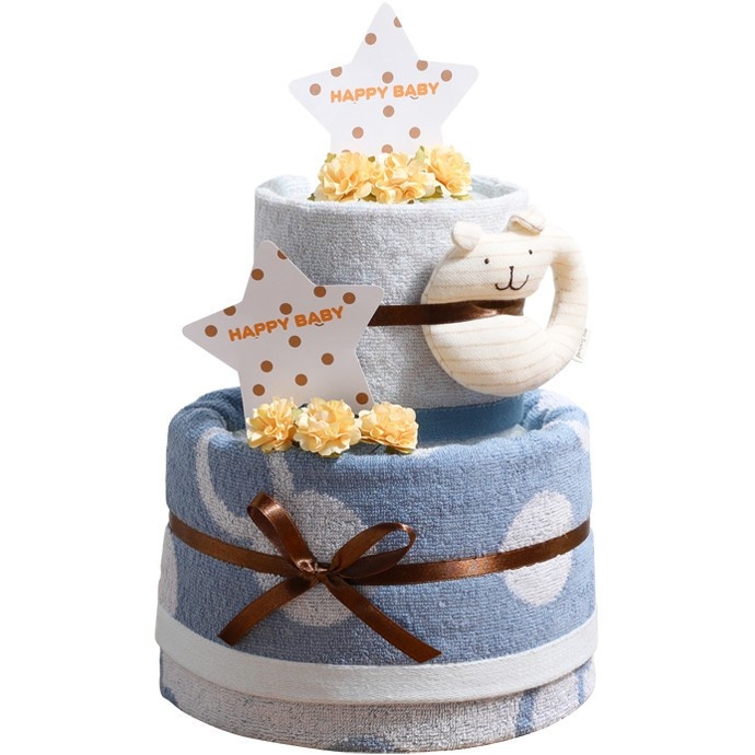 おむつケーキ オムツケーキ 出産祝い 今治タオル オーガニックコットン 名前入り おむつケーキ 日本製|gift-one|15