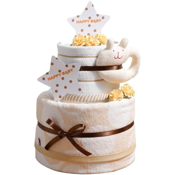 おむつケーキ オムツケーキ 出産祝い 今治タオル オーガニックコットン 名前入り おむつケーキ 日本製|gift-one|17
