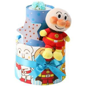 アンパンマン 2段 おむつケーキ 出産祝い 名前入り おむつケーキ オムツケーキ 出産祝 名入れ刺繍|gift-one|11