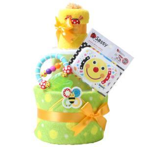 出産祝い 身長計付きバスタオル オムツケーキ カタログギフト Erande にこにこ Sassy 歯固め 3段 おむつケーキ メリーズ ムーニー パンパース GOON|gift-one|20