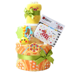 出産祝い 身長計付きバスタオル オムツケーキ カタログギフト Erande にこにこ Sassy 歯固め 3段 おむつケーキ メリーズ ムーニー パンパース GOON|gift-one|21