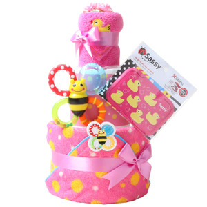 出産祝い 身長計付きバスタオル オムツケーキ カタログギフト Erande にこにこ Sassy 歯固め 3段 おむつケーキ メリーズ ムーニー パンパース GOON|gift-one|18