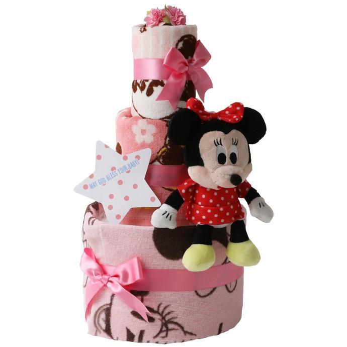 おむつケーキ ディズニー オムツケーキ 出産祝い 身長計付きバスタオル 3段 おむつケーキ ミニオンズ minions ちょっこりさん|gift-one|14