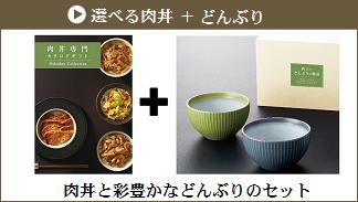 選べる肉丼+どんぶり