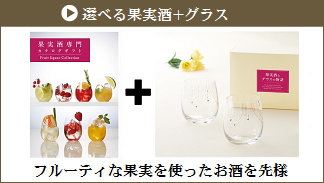 選べる果実酒+グラス