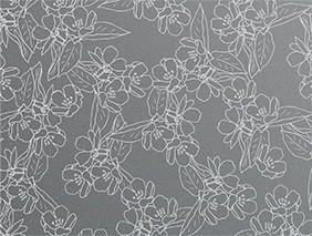 オリジナル包装紙「花柄グレー」