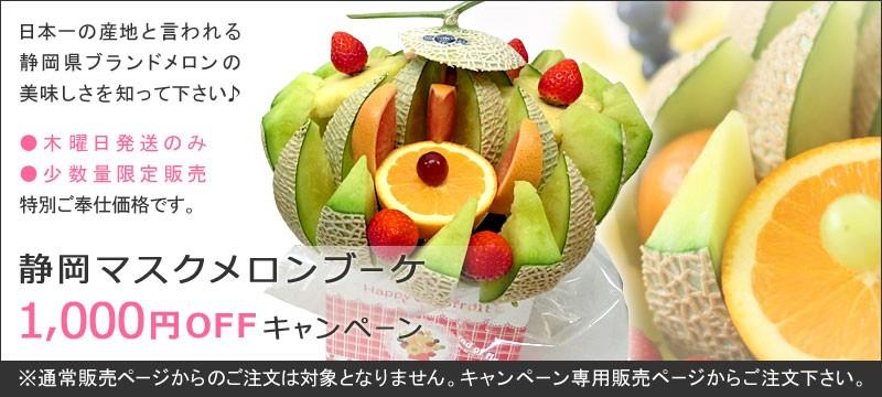1000円オフ静岡マスクメロン