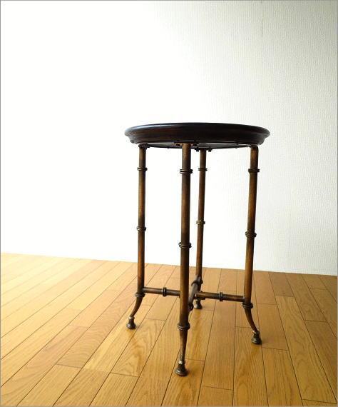 アイアンとウッドのトレイテーブル(7)