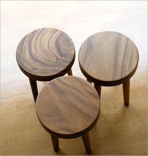 木製スツール ウッドスツール サークル(6)