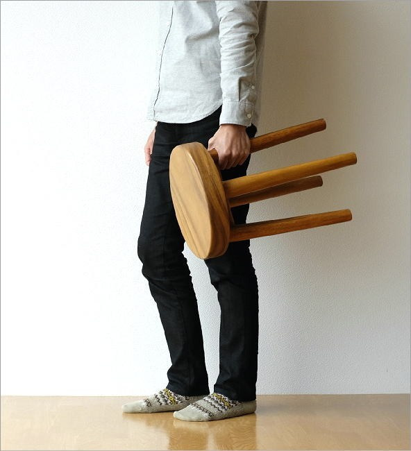 木製スツール ウッドスツール サークル(8)